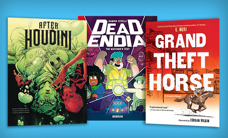 Horses, Houdini, & Haunted Theme Parks: 10 Favorite Fall Graphic Novels for Tweens & Teens