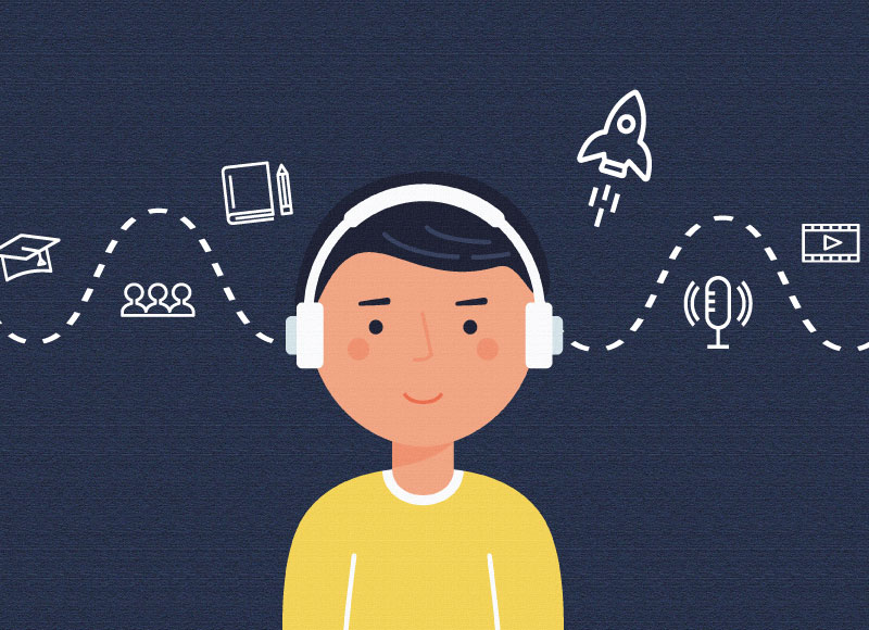 A Universe of Podcasts: A Summer Listening Guide for Elementary, Middle, and High School Students