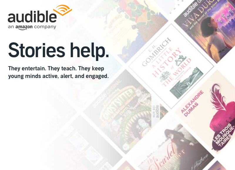Audible Announces New Site, Free Streaming of Titles for Kids and Families