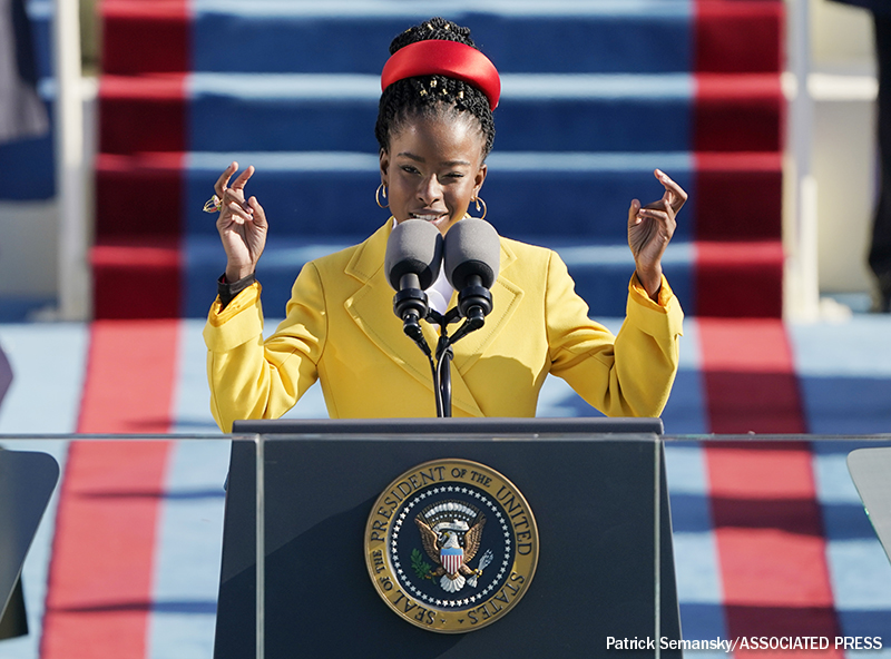 Youngest Inaugural Poet in History Impresses. Lesson Plans Available for Amanda Gorman's
