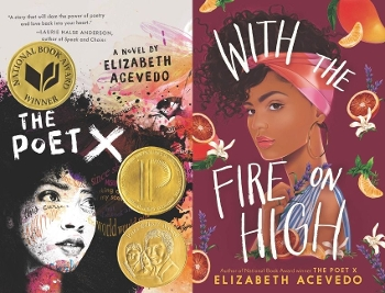 The Poet X and With the Fire on High covers