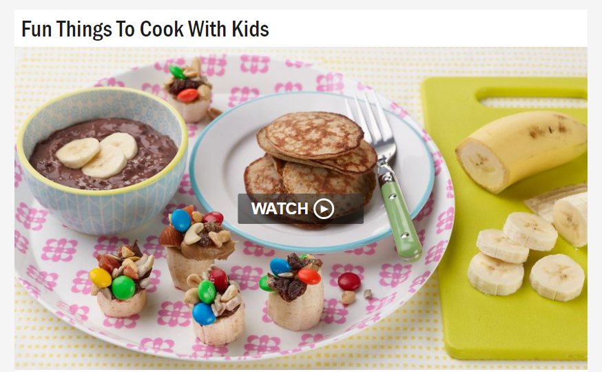 Cooking with Kids: Best Sites and Videos for Young Home Chefs and Their Grown-ups