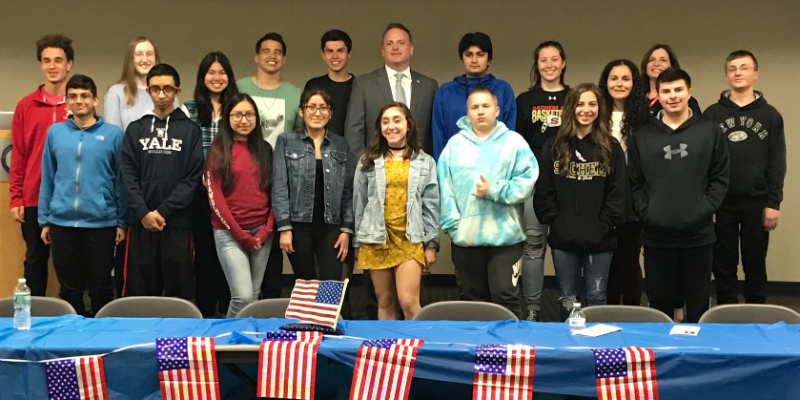 Pizza and Politics: NY Teens Meet with Local Elected Officials and Talk Issues
