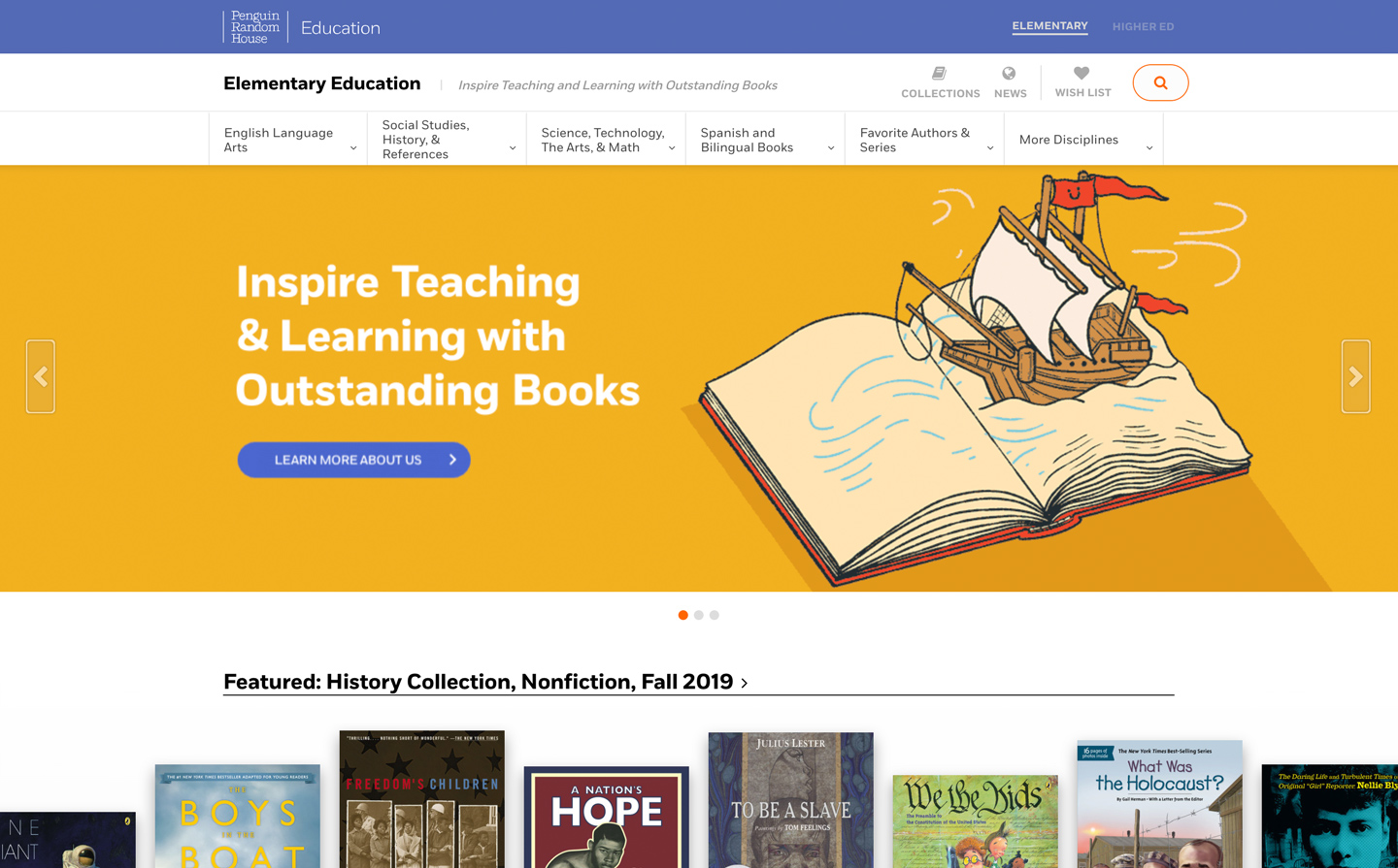 Penguin Random House Education Launches Elementary Website
